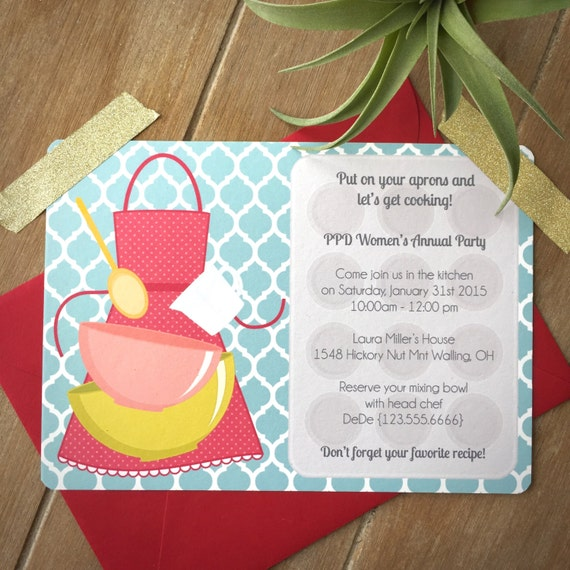 Cooking party invitation child cooking birthday party – Kids Cooking Party Invitations