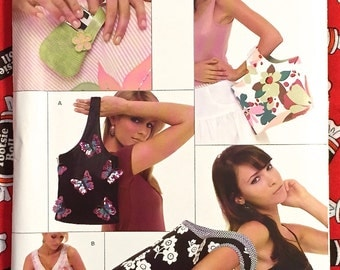 PURSE & BAGS Sewing Pattern - New Look Purses 5 Sizes OOP 6574