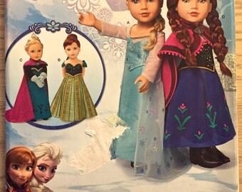 "DISNEY FROZEN Doll Sewing Pattern ~ American 18"" Dolls Costume Patterns"