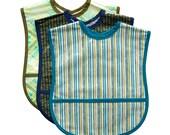 3 Extra Small Adult Bib Set - Choose any 3 Fabrics