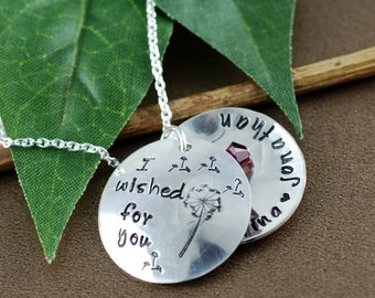 Personalized I wished for You Locket Necklace | | Personalized Jewelry | Locket Necklace for Mom | Silver Locket Necklace | Name Necklace