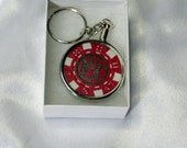 Jack Daniels Old No. 7 Keychain made from collector poker chip
