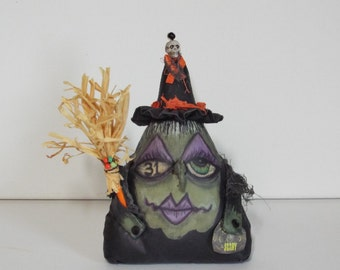 Halloween Witch Doll Haunting Harriet Handmade OOAK Primitive Folk Art Hag