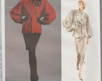 Vogue 1977 / Vintage Designer Sewing Pattern by Perry Ellis / Jacket Skirt Suit / Size 10