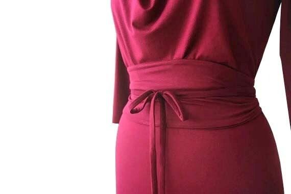 Plus Size Dress, Summer day dress, Cowl neck dress, Bridesmaid dress, Custom size dress, Plus size clothing, Obi belt dress, Womens clothing