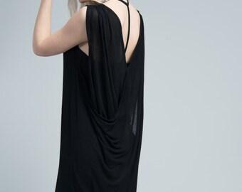 Summer Dress / Cocktail Dress / Sleeveless Dress / Designer Dress / Boatneck Dress / marcellamoda - MD665