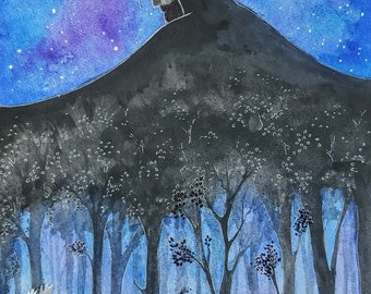 "Leaving the Night King's Woods 11"" x 14"" Print from Original Children's Illustration"