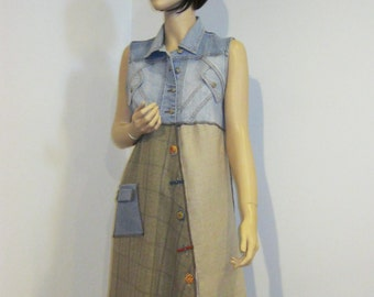 Medium to Large Denim Linen Dress