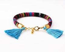 Rope Bracelet Tassel Bracelet Tassel Jewelry Wrap Bracelet Cord Bangle with Tassels