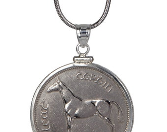 Irish Crown Pendant- Very rare coin- Sterling Silver Hunter Breen Horse- 100% satifaction guarantee