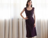 Vintage 1950s Wool Dress - 50s Plaid Dress - Concord South Dress