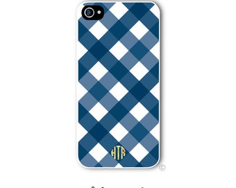Gingham Buffalo Check Phone Case Monogram iPhone 6 Case iPhone 6s Case Samsung Galaxy S5 S6 Case iPhone 5 iPhone 6 Plus iPhone 5c Style 225