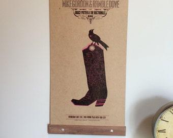 Poster Hanger - Square Edge Walnut