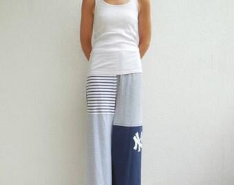 New York Yankees T Shirt Pants Tee Pants Unisex Pants L - XL Recycled Pants Blue Gray White Handmade Pants Cotton Pants ohzie