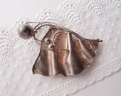 Fluid Metal ... Avi Soffer large Modernist Sterling Silver Brooch / Pin combination Pendant