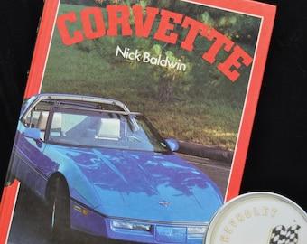 Vintage Corvette Collection/63-84 Picture Book/Coasters in Metal Tin/Mancave barware Decor/Collectible GM Memorabila Library/Racing Hotrod