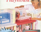Annie's Attic FASHION DOLL PLAYHOUSE Plastic Canvas Pattern Book 87R50 Mary Layfield circa 1991 Scarce
