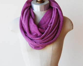 Infinity scarf, circle scarf, hoodie cowl, cozy cowl, hand dyed natural wool crepe