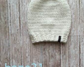 baby slouchy, kid slouchy, kids hat, white slouchy, gift, crochet baby hat, Baby Slouchy Hat,