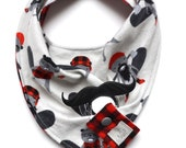 BURLY BEAVERS flannel bandana bib with pacifier holder |scout & indiana ™| bibdana pacifier holder |unisex baby |gifts for baby |shower gift