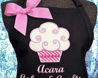 Personalized Apron Cupcake Apron Ladies Kitchen Apron
