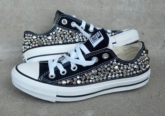 Swarvoski & Spikes Studded Converse Shoes