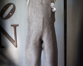 Linen Overalls Tom Sawyer - bermuda length