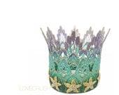 Sienna Tall mini || Mermaid Starfish || ombre lavender mint green || gold starfish || lace crown headband|| photo prop
