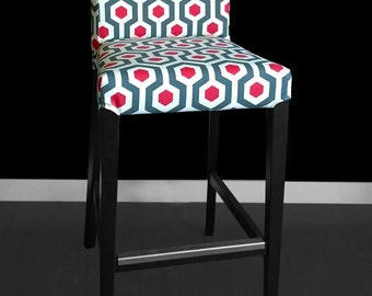 IKEA HENRIKSDAL Bar Stool Chair Cover - Magna Timberwolf