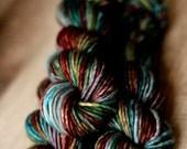 "Dyed to order - Super Bulky Single yarn - 80/20 SW Merino/Nylon - Thanksgiving - ""Overeating"""