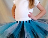Custom Sports Tutu, Carolina Panthers colors shown, can do most team colors, Football for babies, toddlers, and girls