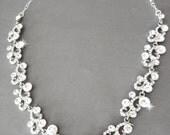 Crystal necklace ~ Brides necklace ~ Wedding necklace ~ Bridal necklace ~ Sparkling crystals, vine design, SHANNON