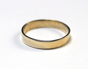 3mm wide Flat Edge Brass Band--Women's Thin Brass Band--Ultra Thin Band--Modern Wedding Ring  Brass ring brass stacking brass ring
