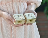 "Personalized ""Mr"" & ""Mrs"" set of ring bearer box"