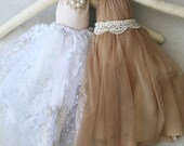 Flora & Fran Ragdolls: Handmade from Vintage and Recycled Materials, Cloth Doll, Princess, Fairy, Sparkles, Ragdoll