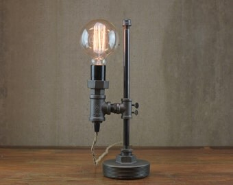 etsy industrial lighting. minimalist lamp industrial desk edison bulb light steampunk etsy lighting r