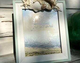 Seashell Frame/8x10 Frame/Wedding Frame/Beach House Picture Frame