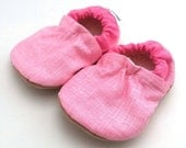 pink baby shoes toddler shoes pink booties baby girl gift soft sole shoes vegan baby non slip shoes elastic baby booties pink moccasins
