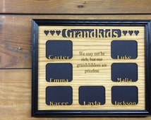 11x14 Personalized Grandkids Picture Frame with Names Engraved Wooden - kids, school, niece, nephew