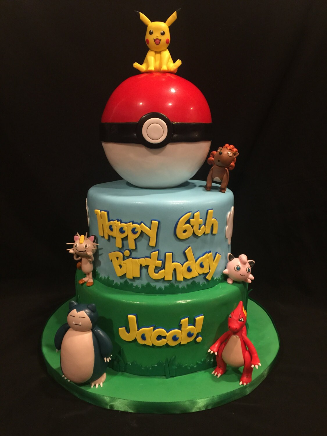 One Fondant Pokemon Character Cake Toppers