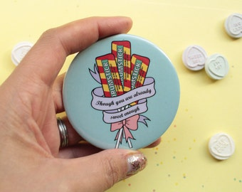 Drumsticks Sweets Travel Mirror Bouquet And Scroll Motif