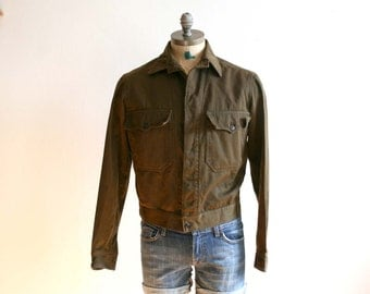SALE Military Olive Wool Jacket