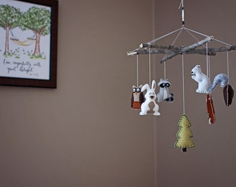 Woodland Animals / Branches - Baby Mobile