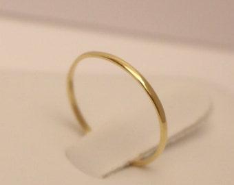 14K Gold Ring, 14k half round band ring, 14k thumb ring, 14k band ring, 14k midi ring, 14k skinny ring, 14k knuckle ring, 14k gold ring