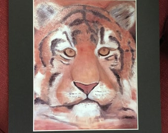 Tiger print of original oil painting