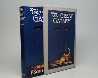 The Great Gatsby by F. Scott Fitzgerald First Edition Library Hardcover FEL Replica of 1925 Issue Including Typographic Errors Within Text