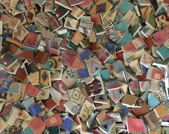 Two Pounds Sizzling Hot SOUTHWESTERN Blend Assortment Mix Tiles for Mosaic -  Broken China - GREAT BARGAIN!