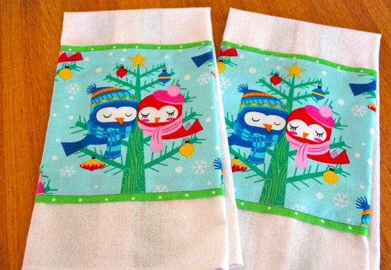 Winter Birds Hand Towel Tea Towel