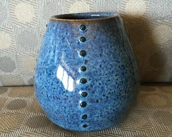 Speckled Blue Vase