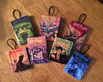Harry Potter mini book ornaments (set of 7)